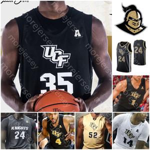 Özel UCF Knights Basketbol Jersey NCAA Kolej Collin Smith Ceasar DeJesus Darin Yeşil Jr Dazon Ingram Dre Fuller Jr Frank BERTZ Mahan