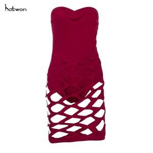 New Hot Sale Vogue Ladies Short Mini Dress Sleeveless Bandage Bodycon Dress Club Party Dress