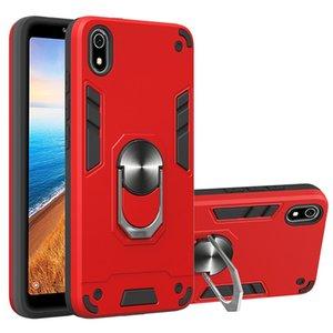 Sostenedor del anillo de la armadura de coches Caja de metal para Xiaomi redmi 5A / 5A primer redmi / redmi Y1 magnética parachoques suave cubierta trasera del teléfono