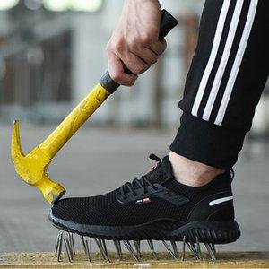 Несокрушимая Обувь Мужская Безопасная Рабочая Обувь Со Стальным Носком Проколотые Сапоги Легкие Дышащие Кроссовки Дропшиппинг