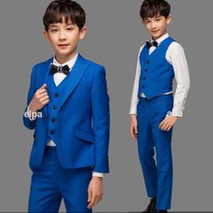 Royal Blue Communion Garçons 3 ados Piece de soirée de mariage de smoking de costume formel