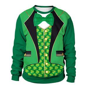 St.Patrick'sDay streetwear chándal hombres Fiesta caballero traje vetements Festival de Irlanda Ropa Primavera Pareja sudadera de diseño de lujo