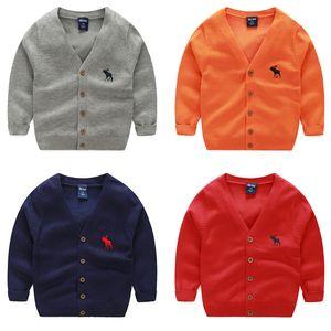 Pull mode bébé enfants Cardigan Garçons Filles Enfants Pull en tricot de printemps pull Vêtements pour bébé vêtements 2-7ans
