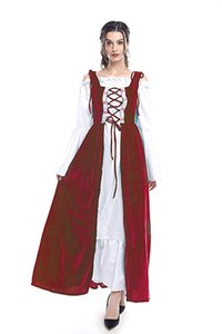 Женский Ренессанс ирландский Овердресс средневековый над платьем косплей костюм