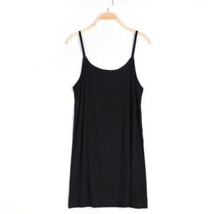 falda del vestido del verano de las mujeres con las hombro-correas render chaleco interior de la toma enagua camisón-001