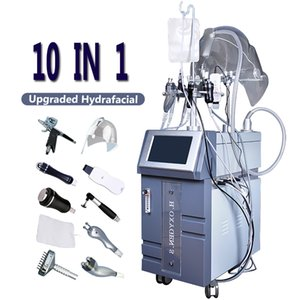 10 في 1 Hydrafacial Skin Care Machine O2 Oxygen Jet Hyperbaric Oxygen Equipment يعزز الأيض ويقلل التجاعيد Hydra Skin Face Lift