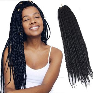 6 packs   lot 24 inch Long Ombre Purple Braided Hair Extensions 100g Synthetic Kanekalon Hair For DIY Crochet 3X Box Braids 20 Roots