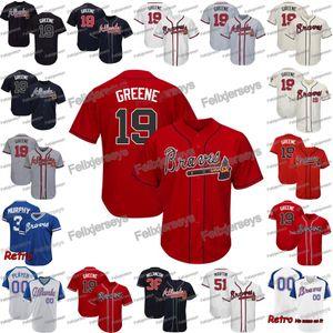 19 Shane Greene Atlanta Chris Martin Jerry Blevins Austin Riley Freddie Freeman Ender Inciarte Beyzbol Forması