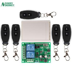 433Mhz Universal Wireless Fernbedienung wechseln AC 250V 110V 220V 2CH Relais-Empfänger-Modul und 5pcs RF 433 Mhz Fernbedienungen