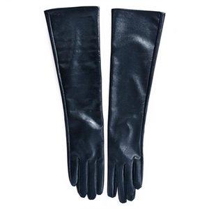 Donne Faux Leather Guanti Di Gomito inverno lungo guanti caldi Finger Gloves foderato Nuovo
