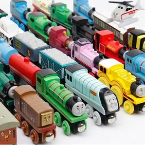 74 Styles Trains Friends Wooden Small Trains Cartoon Toys Wooden Trains & Car Toys Give your