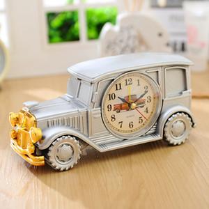 Vintage Car Kids Alarm Clock - Orologio da tavolo in plastica per bambini studenti - Antique Car Model Table Office Home Decorator