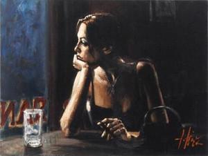 "Fabian Perez ""El Federal Cafe IV"" Home Decor pintado à mão HD cópia da pintura a óleo sobre tela Wall Art Canvas Pictures 200229"