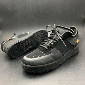 2020 últimas novo branco x 1 OFF-WHITE x Nike Air Force1 OW MCA Azul Mens Running Shoes Sports moda Designer Sneakers ar um des chaussures os sapatos