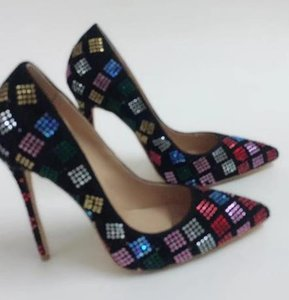 2019 designer ladies high heel red pointed low cut dress shoes