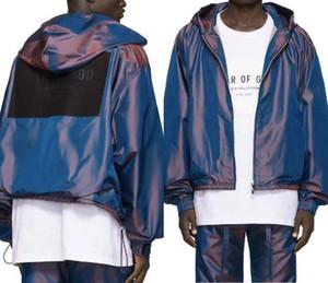 FOG 3M Reflective Куртки и штаны Мужчины Женщины Дизайнерская Ветровка ВЕТРОЗАЩИТНЫЕ костюмы с капюшоном куртки и брюки прямого кроя Set