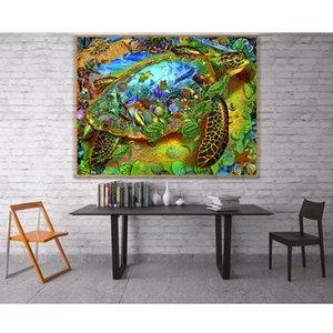 5D Sea Turtle Underwater Full Diamond Painting cross stitch kits art High Quality Scenic 3D paint by diamonds