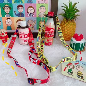 Girl's Cup mineral water Cup plastic mineral water beverage bottle travel straps hiking portable straps