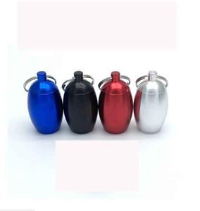 Tabak kann wasserdichte oval runde eiförmigen Pille-Kasten-Kasten Schmuckschatulle Schlüsselring-Speicher-Organisator-Halter-Behälter Jars 47 * 27mm