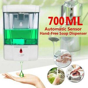 Liquide 700ml Savon Distributeur automatique Touchless Smart Sensor Distributeur de savon de bain mural Distributeur de savon ZZA2303 6Pcs