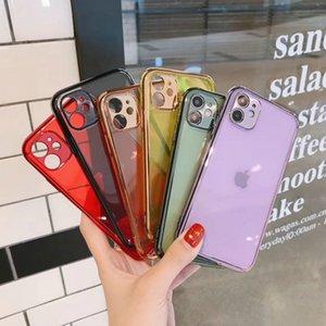 6D translucide clair Placage TPU téléphone portable cas pour l'iPhone 11 Pro Max SE 2020 XR XS Max 6S 7 8 Plus P40