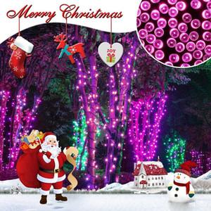 7m 12m 22m Solarlampen LED-Lichterketten 100/200 LEDS im Freien Fee Urlaub Weihnachtsfeier Girlanden Solar Rasen Garten Lichter wasserdicht