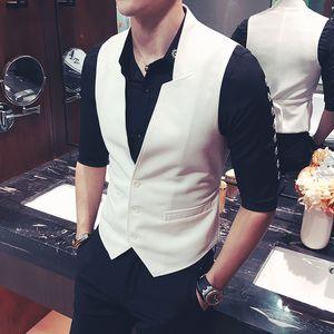 2019 Homens Marca primavera roupas de forma magro terno ajuste negócios Vest / Homem alta qualidade de algodão puro lazer MA3 tamanho jia3 S-5XL