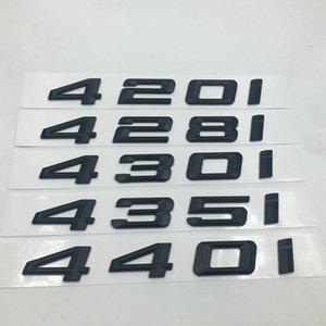 블랙 ABS 420i 428i 430i 435i 440i 엠블럼 배지 편지 데칼 BMW 4 시리즈 F32 F33 F36 상징