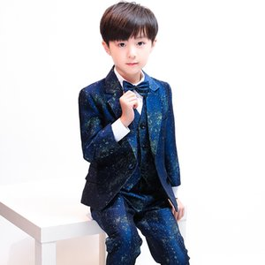 Children's small suit piano costumes boys suits catwalk suits flower girl Korean version of the color casual dress suit