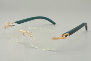 2019 الزرقاء النظارات الشمسية الجديدة خشبية المعبد، 8100915 النظارات الشمسية شخصية، محفورة العدسات عدسة اللون والحجم: 56-18-135mm النظارات الشمسية،