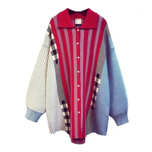 TVVOVVIN 2020Autumn And Winter New Korean Style Cardigan Sweater Coats Women Striped Wild Ladies Sweaters Women's Clothing Z003