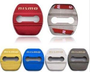 Para 4pcs la cubierta protectora de bloqueo de la puerta de acero inoxidable de Nissan Nismo caja del coche Accesorios para automóviles Car Styling / Lote