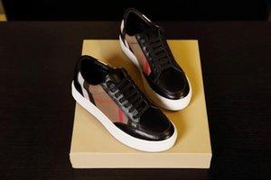Burberry shoes Date 2020 top Qualité Designer Chaussures Hommes femmes Low Cut Casual Run Away Chaussures Marque Hommes Femmes Sneakers haute qualité 35-45 bbr200416