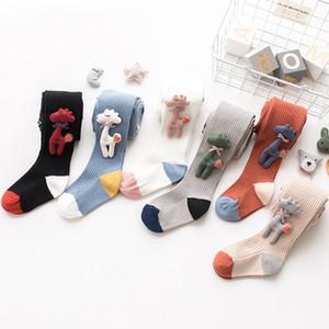 Çocuklar Elbise Çorap Karikatür Bebek Bebek Kız Çorap Bahar Sonbahar Karikatür Zürafa Tayt Çorap Çocuk Örme Yumuşak Socking HHA734