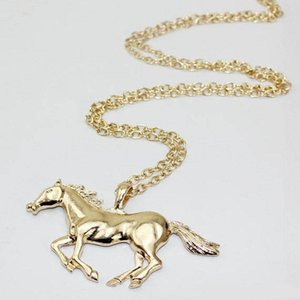 2020 New Hot Joker Pony Necklace Women's Animal Pendant Necklace Women's Long Chain Sweater with Accessories