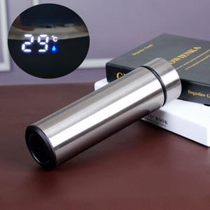 17oz Akıllı Sıcaklık Bottle 500ml Akıllı Su Paslanmaz Çelik Vakum Çift Duvar Tumbler İzoleli Kahve Mug A03 Şişe