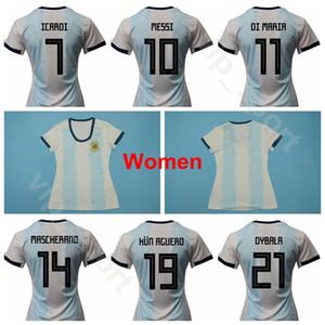 Arjantin Kadınlar Lionel Messi Jersey 2019 Dünya Kupası Futbol 11 DI MARIA 14 MASCHERANO 19 KUN AGUERO 9 HIGUAIN Futbol Gömlek Kitleri Üniforma