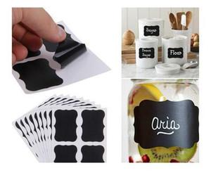 Nouveau 36x tableau noir Tableau Noir Autocollants artisanat Cuisine Pot étiquettes Tags 80 * 50mm DHL Livraison gratuite H008