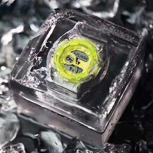 2020 Yaz En Unisex Saatler Moda Şeffaf Fonksiyonlu LED Dijital Analog Çift Ekran İzle Vaka Paslanmaz Çelik Arka Kapak Saat