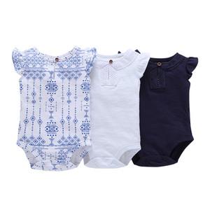 طفل رومبير بنات موضة صيف بلا أكمام أعلى جودة قطعة واحدة من القطن ملابس الوليد الطفل بنات ملابس شحن مجاني J190525