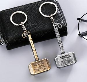 La Catena Vendicatori Thor chiave martello campana catena paio di Keychain del supporto di chiave dell'automobile acrilica della Bell Anime Key Bag accessori del pendente