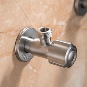 304 en acier inoxydable 1/4 Angle Valve à angle droit Valve Stem Adaptateur eau chaude et froide Toilette Entrée d'eau Épaississement Interrupteur anti-déflagrant