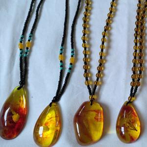 الحجر الطبيعي قلادة الراتنج البرازيلي الطبيعية النباتية مصنع العضوية تقليد قلادة العنبر للمرأة الرجال المجوهرات هدية عيد الميلاد