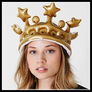 Partido Headwear Dress Up Toys Dance Party Hat Aniversário Coroa Decoração Props Festival 5pcs Crown inflável Hat Infantil