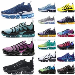 TN PLUS 2020 buharı Üçlü Siyah Geometrik Aktif Fuşya Limon Kireç Ruh Teal Koşu Ayakkabı Tasarımcısı Erkek Kadın Sneaker maxes Boyut 12