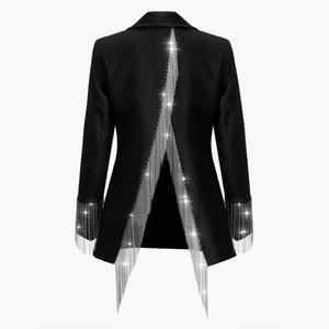 Cappotti in nappa pesante Catene Donna Manica lunga Bottone Irregolare Soprabito senza schienale 2019 Primavera