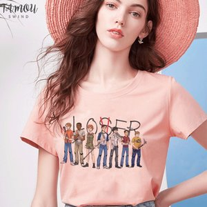 Movie It Losers Club T Shirt Women Lovers Print Casual Short Sleeve Loser Lover It Inspired T Shirt Harajuku White Tops