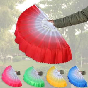 Danse chinoise Fan Silk Weil 5 couleurs disponibles pour les os du ventilateur de mariage blanc Pliant Fan Party Favor LJJA3499-2