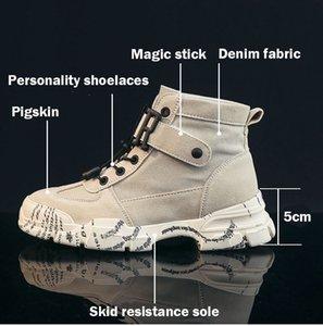 Klasik tasarımcı Retro tarzı klasik erkek botları gündelik yüksek kayma direnci ayakkabı Martin militry lüks kış sonbahar chaussures F0820