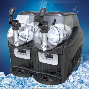 110 / 220V Commercial Snow Melt 2l Commercial Slush Machine Two Tank Ice Slusher Cold Drink Disperser Smoothies